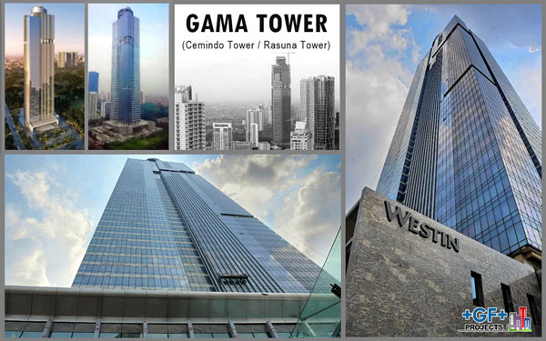 Gama Tower dengan Westin Hotel di atasnya. Sumber foto: goldenprima.id