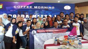 #SebarkanBeritaBaik, Kapolda Metro Jaya, Coffee Morning, Netizen